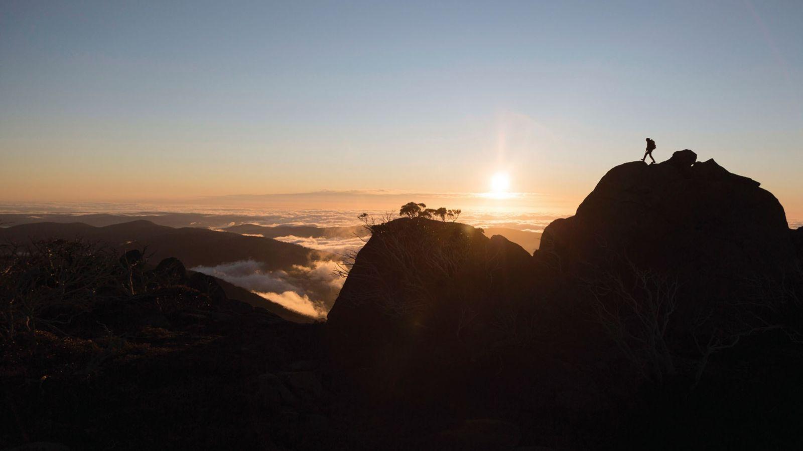 Sunset at Kosciuszko National Park, Kosciuszko, New South Wales, Australia