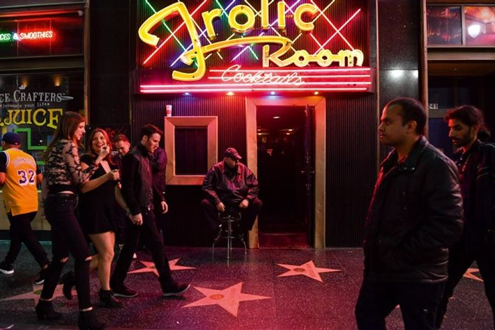 Frolic Room and Hollywood Walk Of Fame. Image: Getty