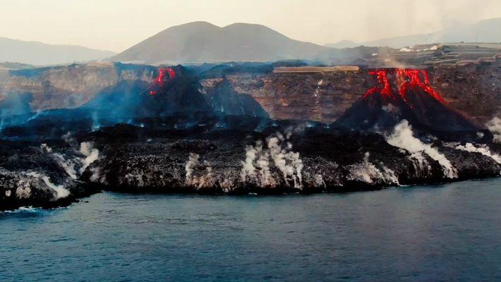 The lava delta at La Palma