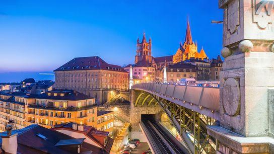 Bessières bridge, Lausanne