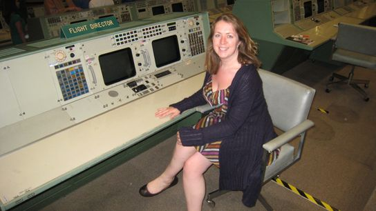 Libby Jackson in Houston, training to be a flight director.