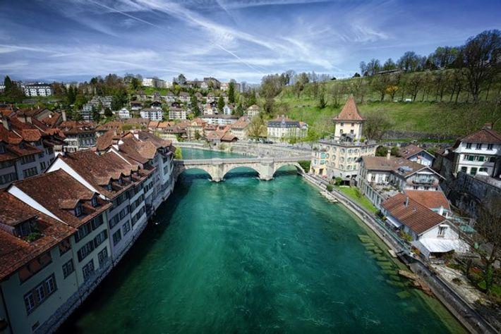 River Aare in Bern.