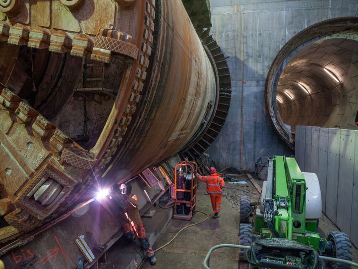 Massive boring machines like this one—dubbed Victoria in honor of the British queen who oversaw the ...
