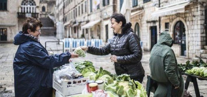 Marija Papak visits the market