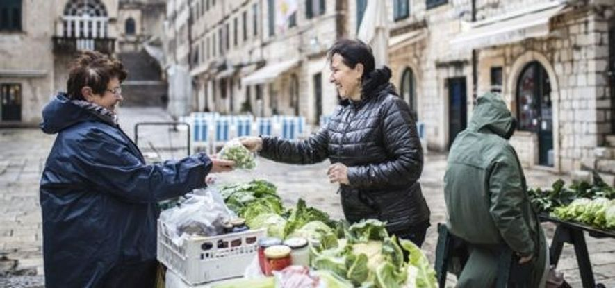 Marija Papak visits the market
