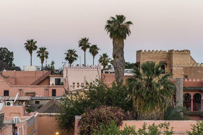Sunset over the Marrakech medina