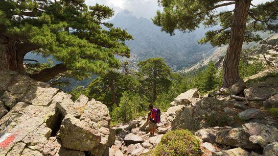 Hiking in Corsica.