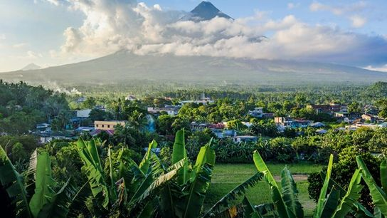 View of Mayon from Daraga Church, Albay.