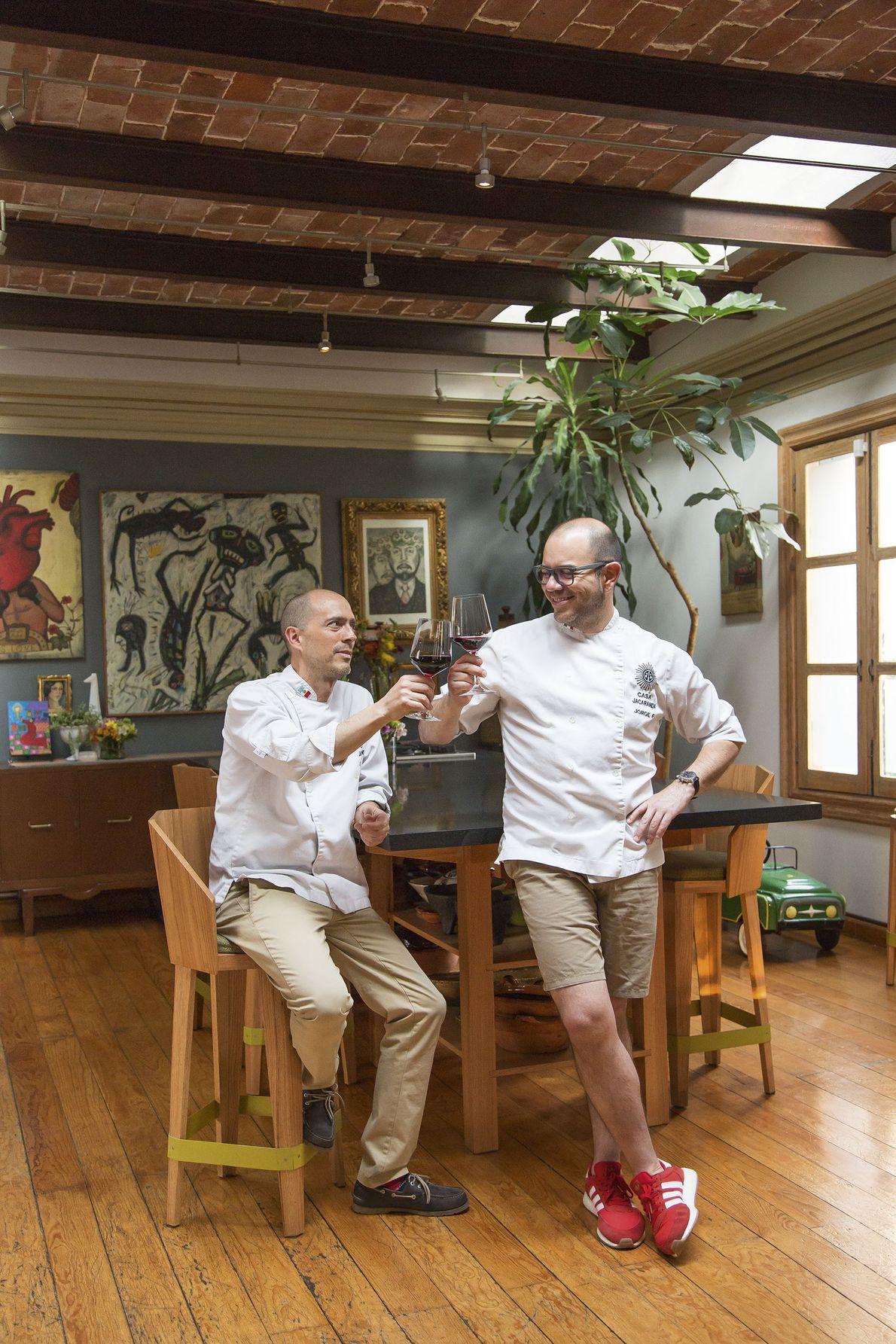 Jorge and Beto at Casa Jacaranda