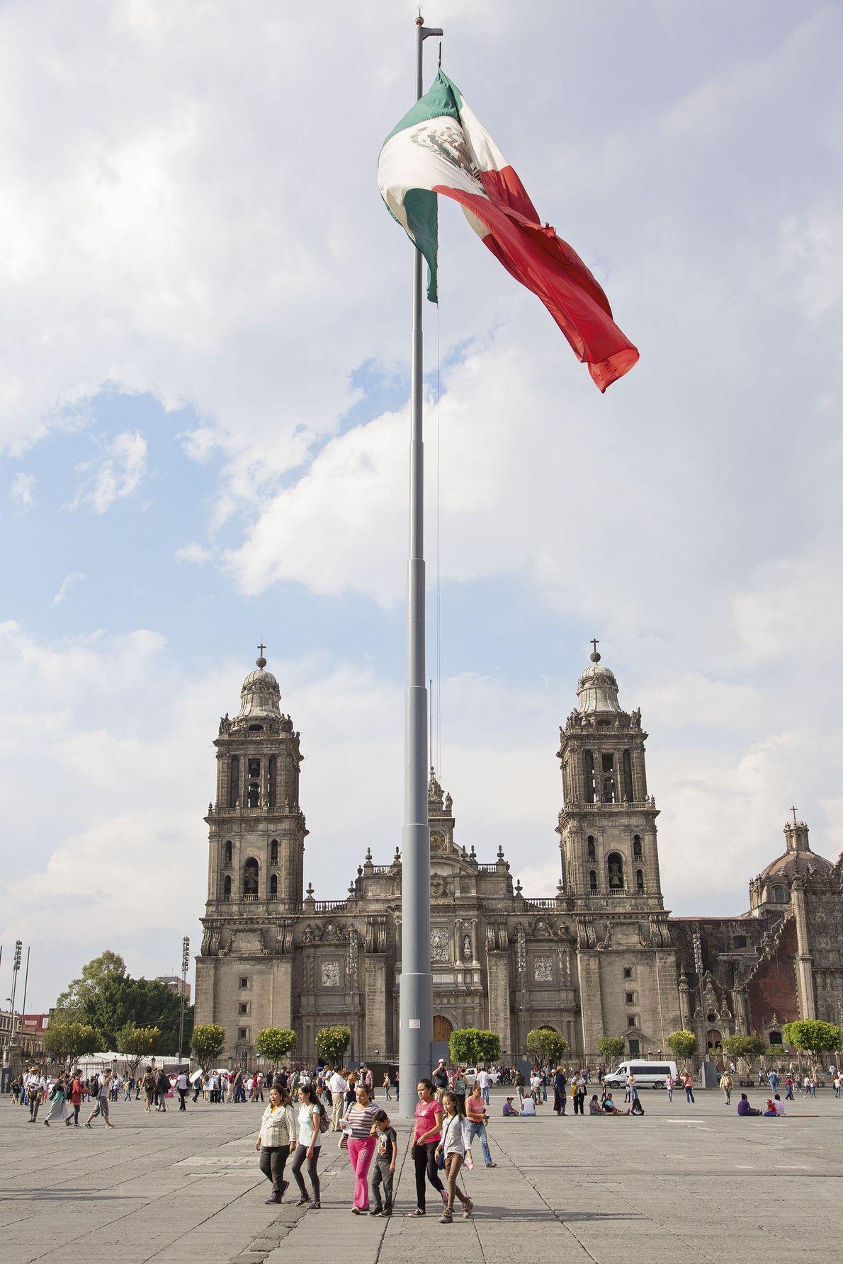 The Zócalo, the main city square.