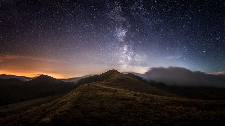 "Alyn Wallace: ""The Milky Way above the central Brecon Beacons with Pen-y-Fan (886m), the highest peak ..."