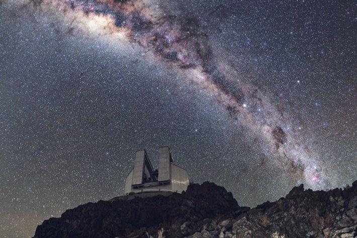 Milky Way in the sky above La Silla Observatory, Atacama Desert. Image: Getty