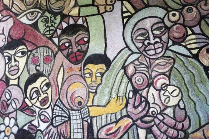 Mural by Malangatan. Image: Emma Gregg