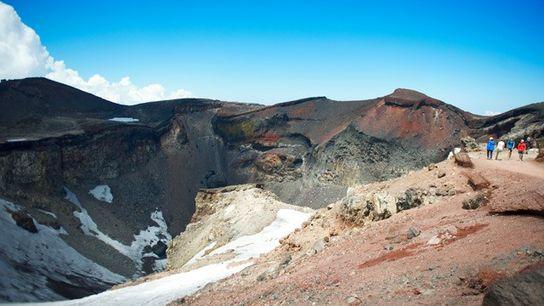The summit of Mount Fuji