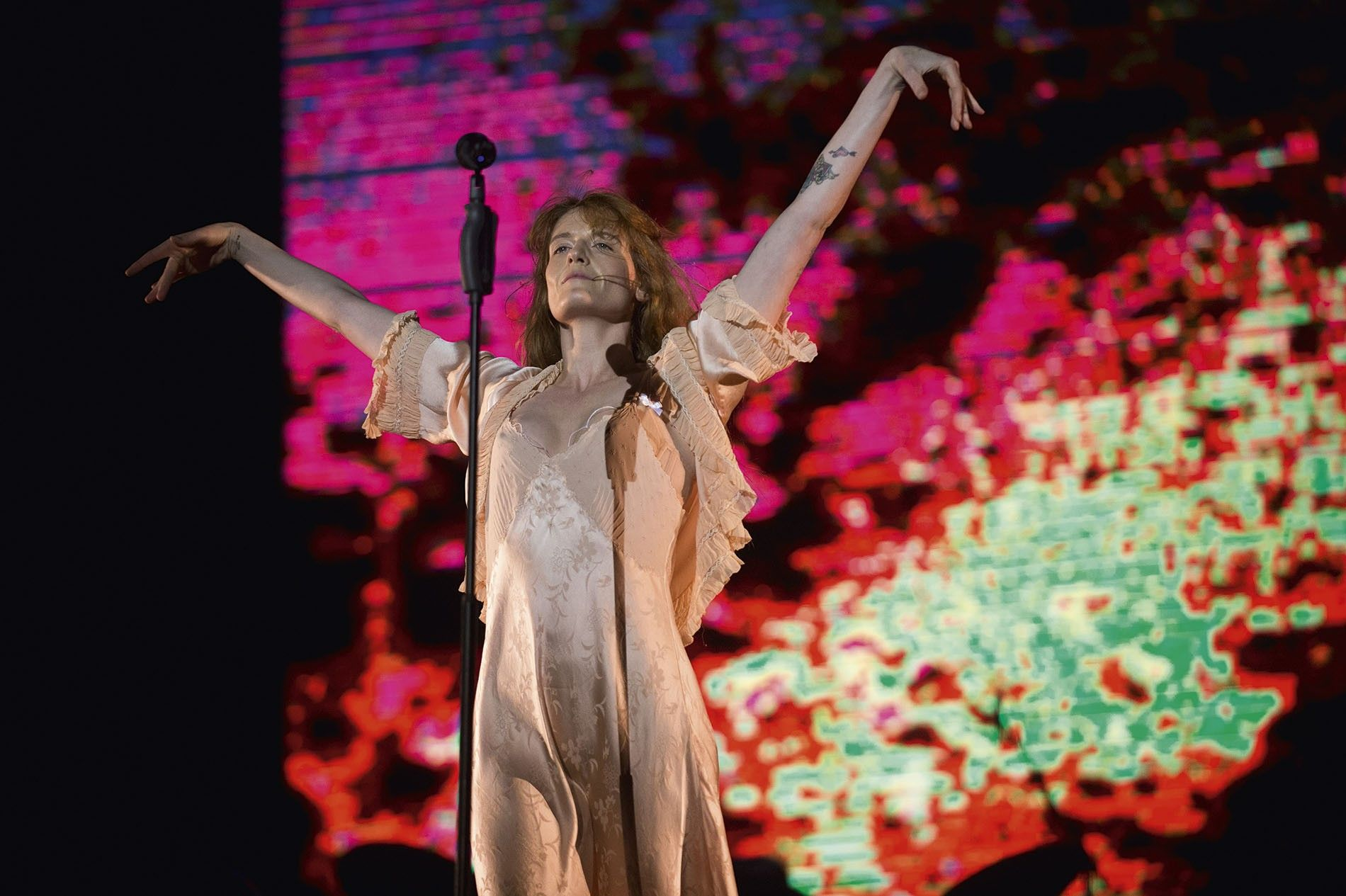 Florence Welch of Florence and the Machine performs on stage during BBK Live Festival