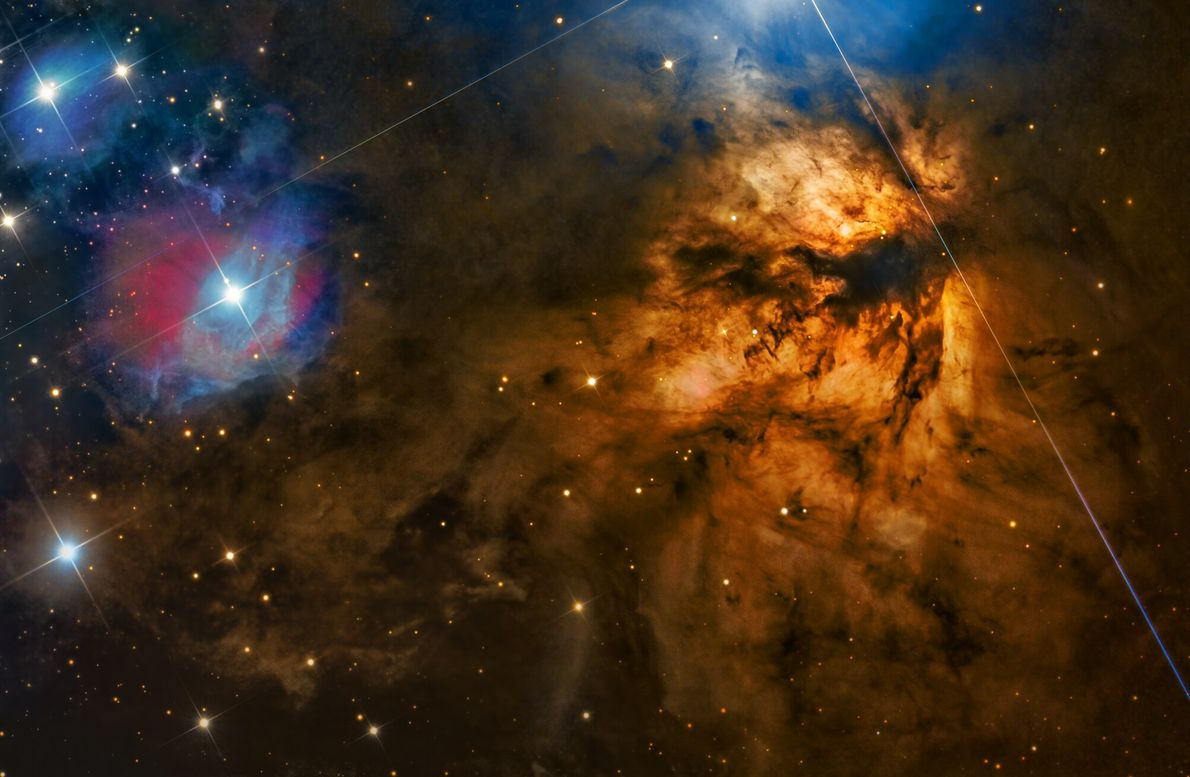 Shot over St Arnaud, Australia, this image shows the vibrant Flame Nebula, part of the constellation ...