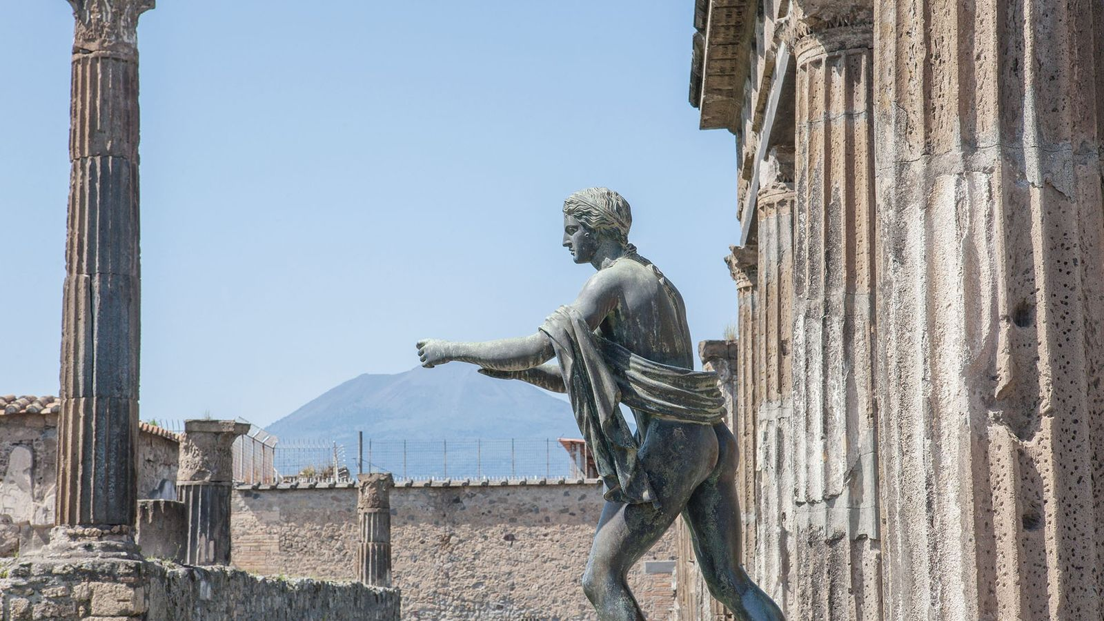 Vesuvius watches over the ruins of Pompeii – the city it destroyed nearly 2,000 years ago. ...