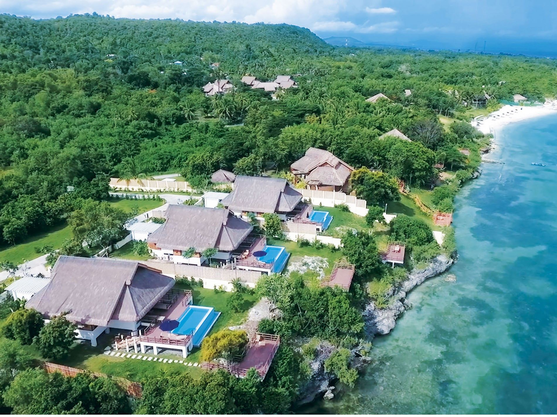 Aerial view of Eskaya Beach Resort and Spa
