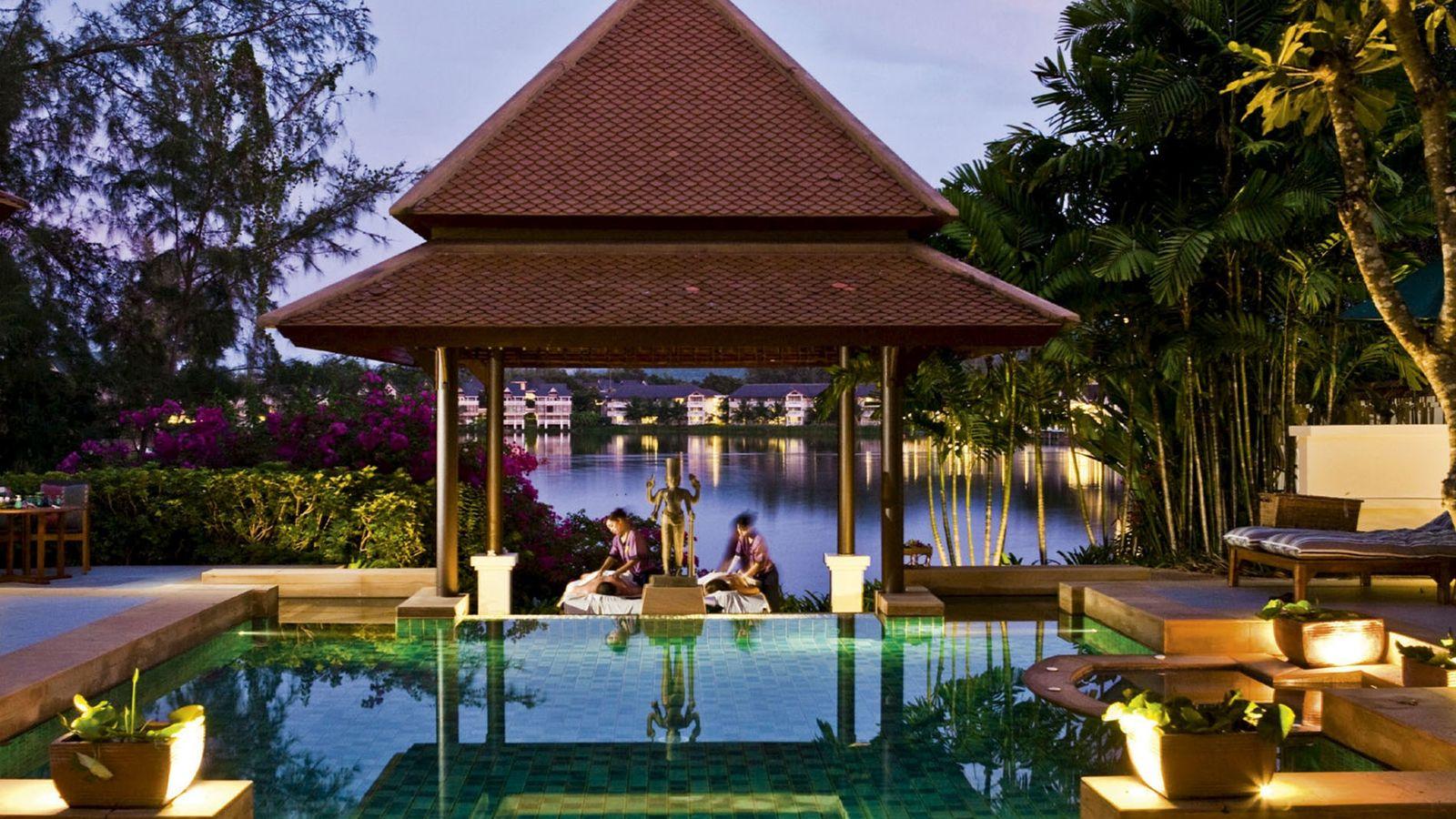 Outside massage area at Banyan Tree Spa Sanctuary