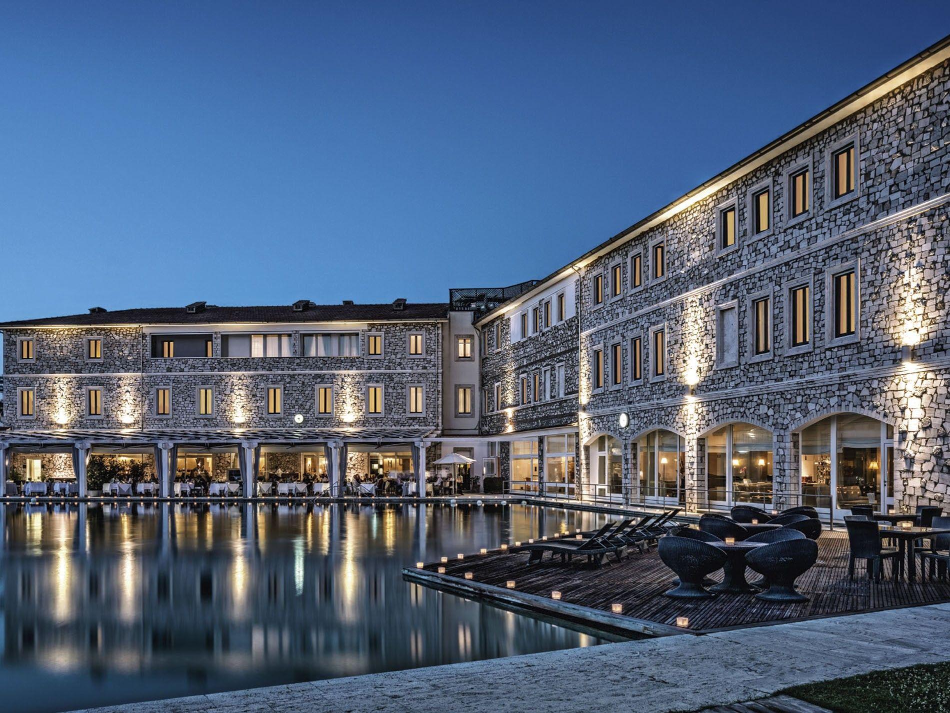Outside pool at Terme di Saturnia Spa & Golf Resort