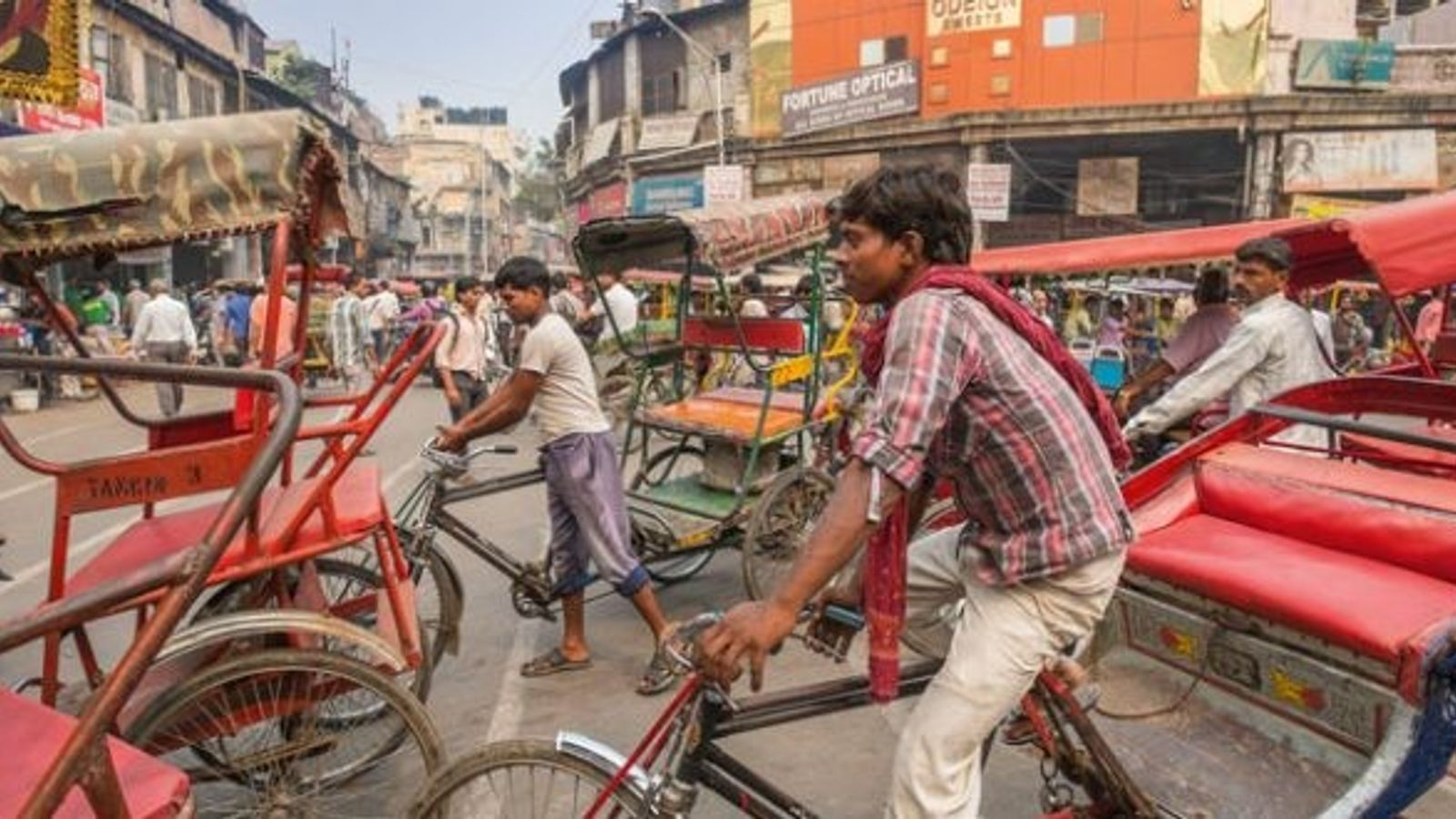 The busy quarter of Chandni Chowk, Delhi.