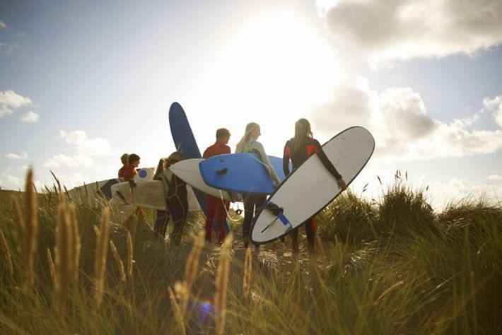 Family surfing break
