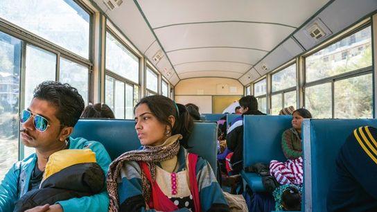 Passengers travelling on the Kalka-Shimla railway.
