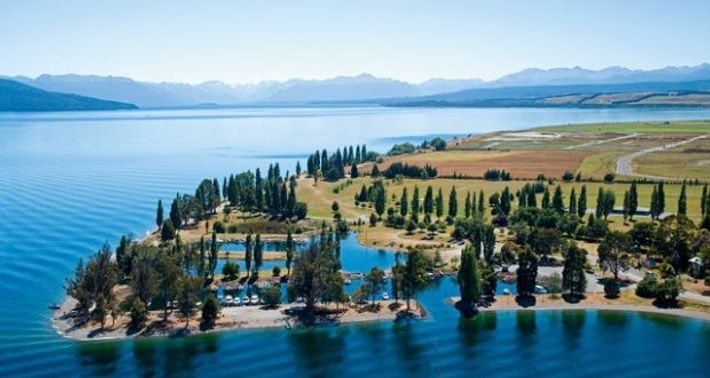 The marina at Lake Te Anau.