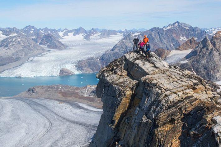 Skiing in Kulusuk, Greenland