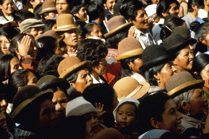 Locals protest in Cochabamba, Bolivia