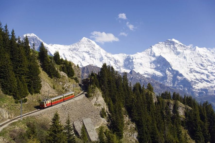 Train through the Bernese Oberland, Interlaken.
