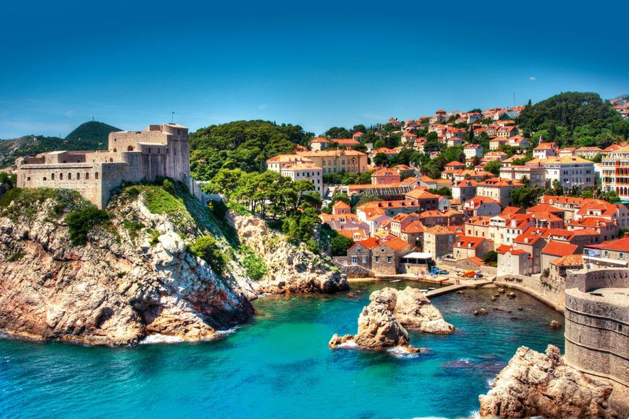 View of the red roofs of Dubrovnik