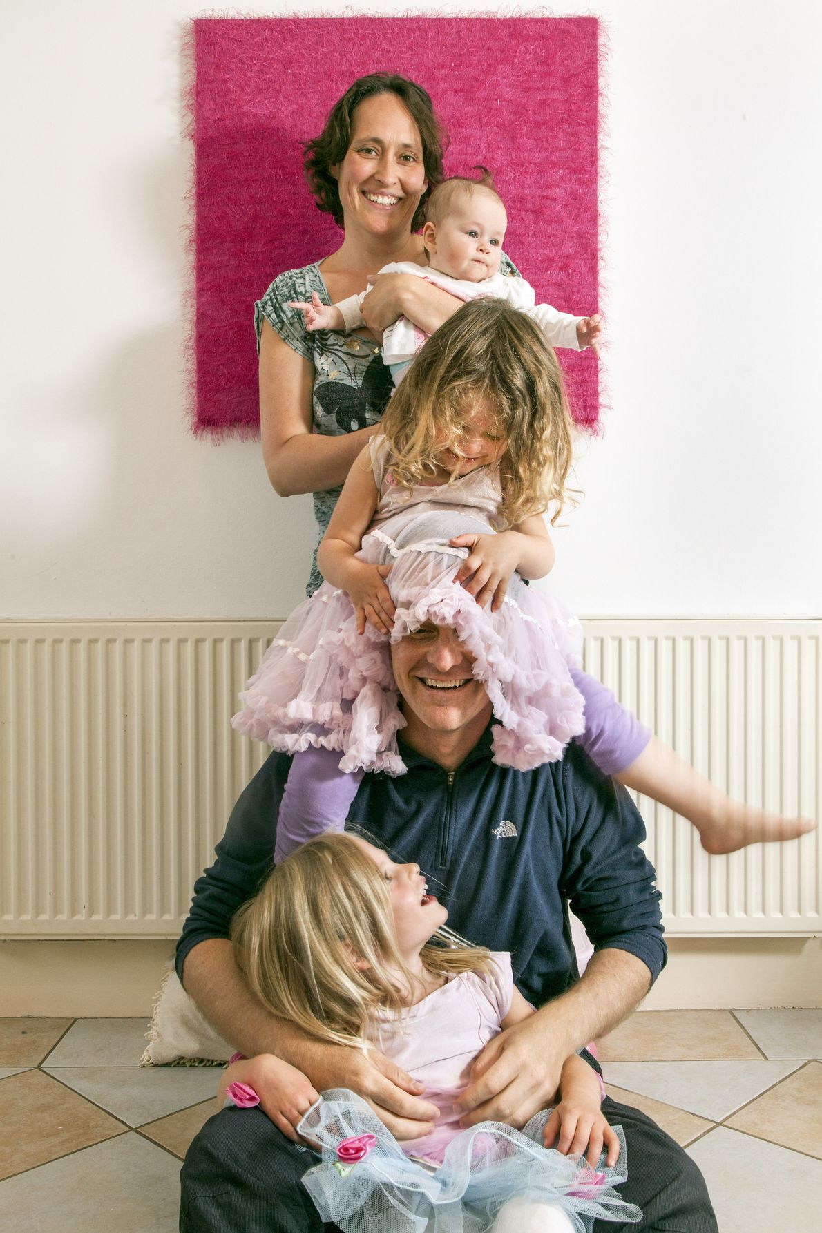 Germany and Australia: Josh Peters with his wife Nicole Seidemann and their three daughters Skye, Kaia ...