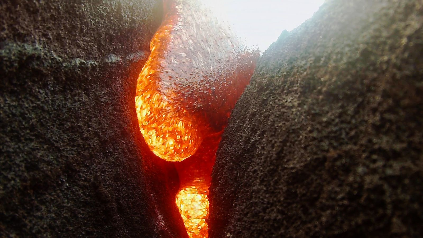 Camera Submerged In Hot Lava, Keeps Recording
