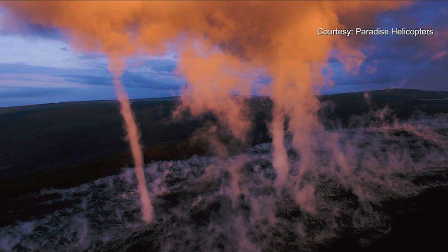 Rare Tornadoes on Hawaii's Kilauea Volcano
