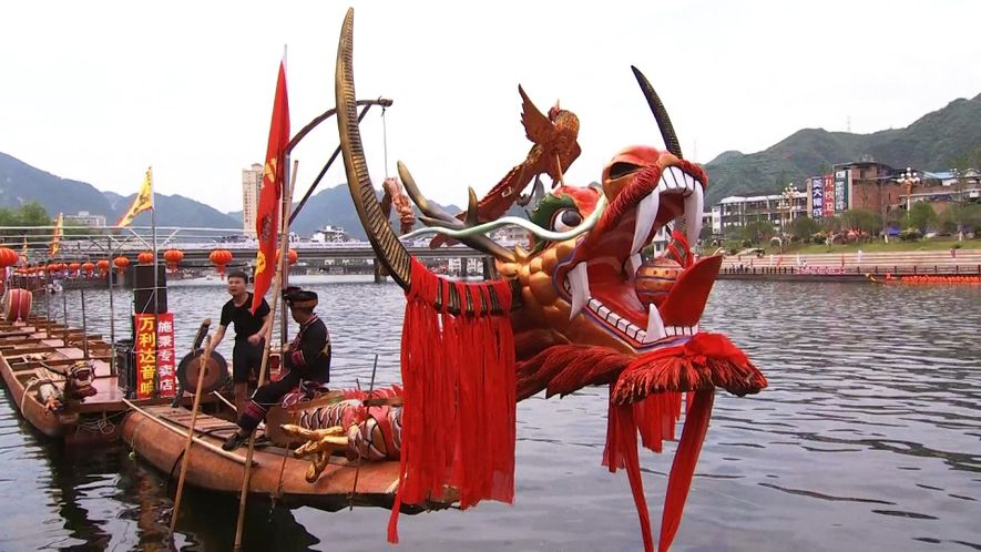 Dragon Boat Races Celebrate China's Ancient Past