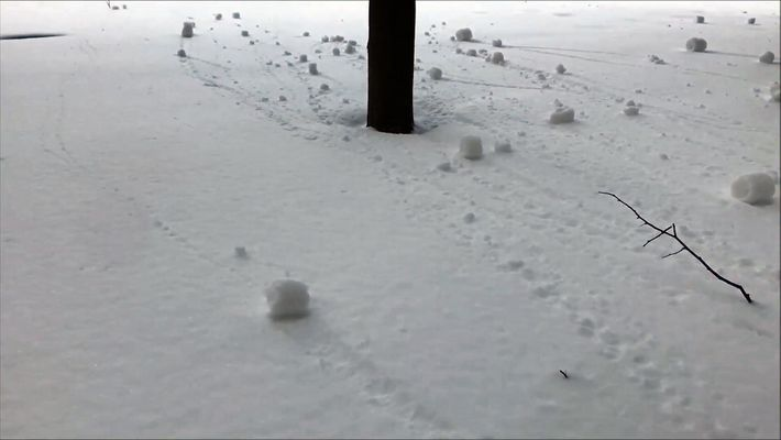 Watch Self-Rolling Snowballs Form in Canada