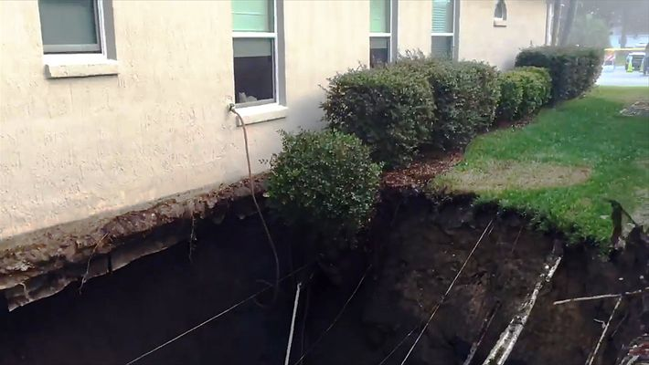 Huge Sinkholes Open in a Florida Retirement Community