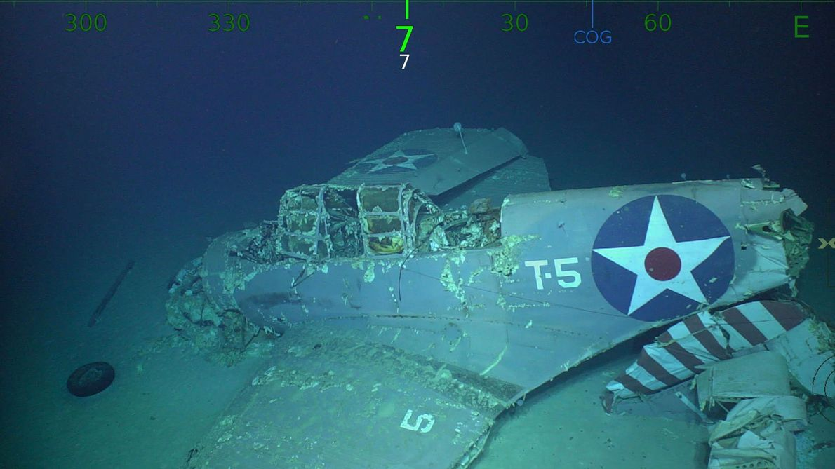 Video: Wreckage of WWII Aircraft Carrier U.S.S. Lexington Found in Coral Sea