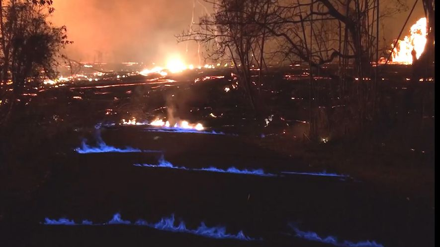Why Blue Flames Are Now Burning at Kilauea