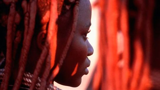 Warm welcome: Himba woman in Namibia.