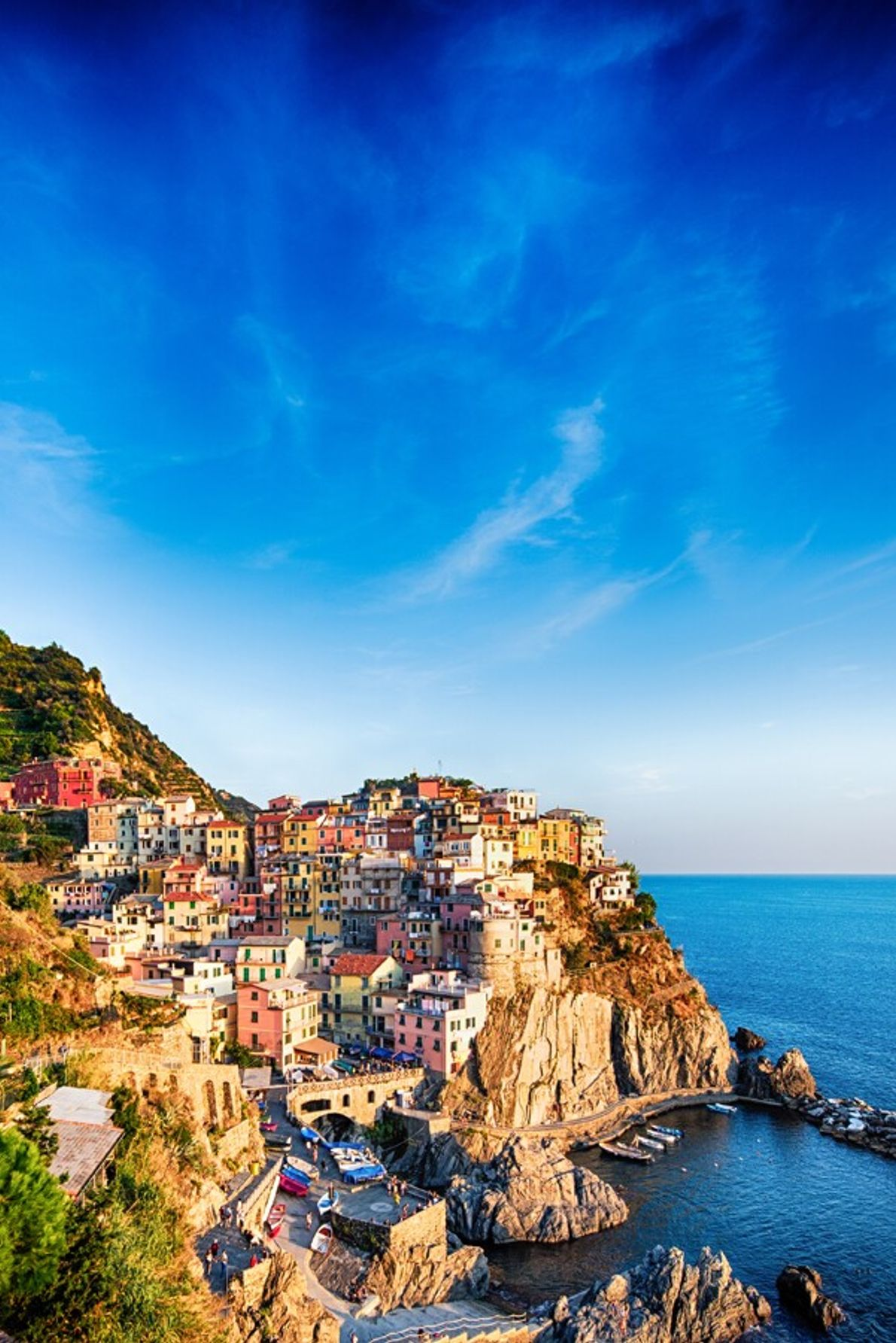 Manarola is one of the 'Cinque Terre' (five towns) on the Ligurian coast, south-east of Genoa. The region's ...