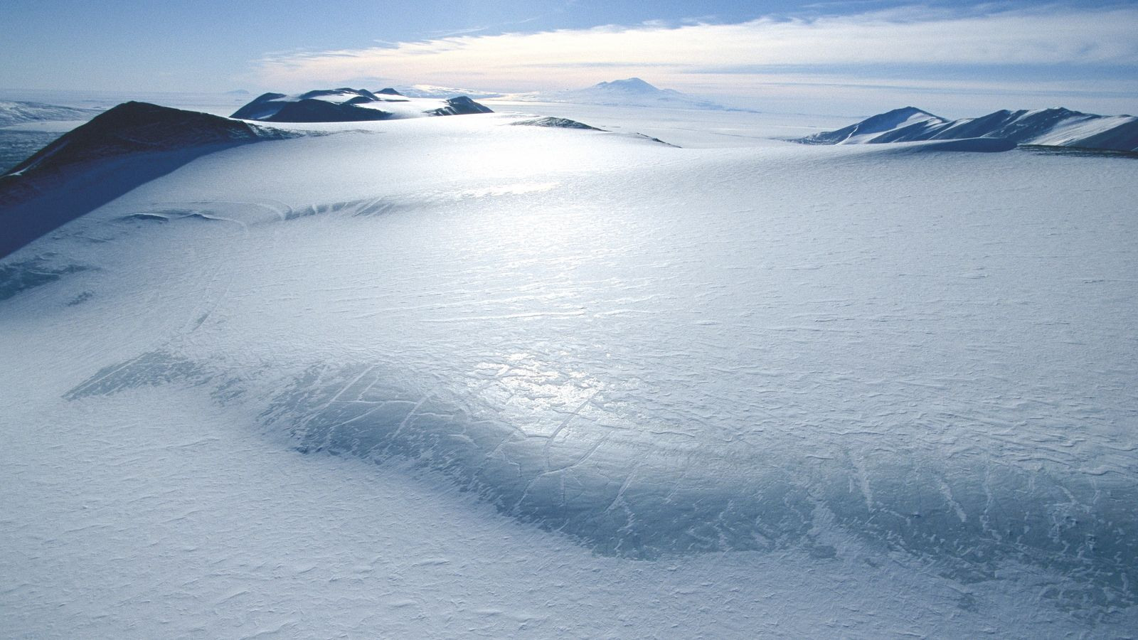 Much of Antarctica is below hundreds – or even thousands – of metres of ice, much ...