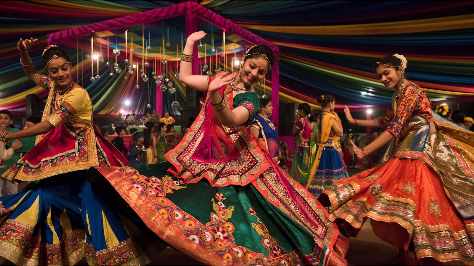 Dancers at Navratri