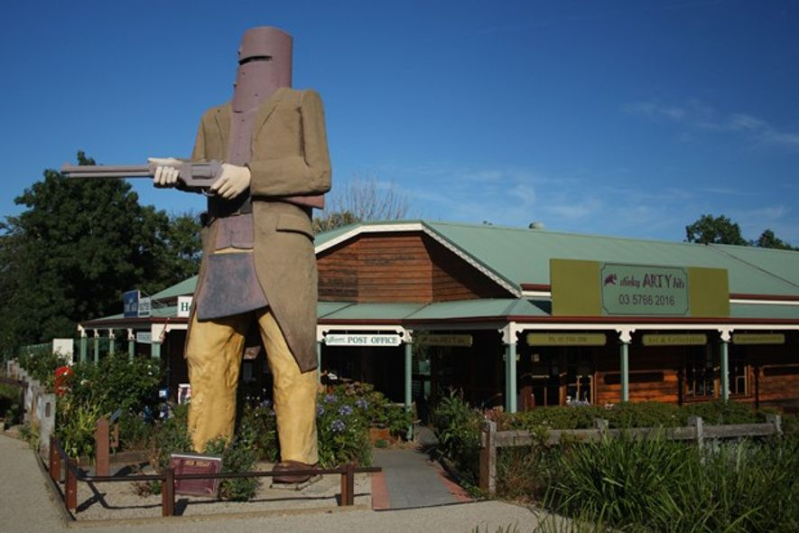 Ned Kelly statue in Glenrowan.