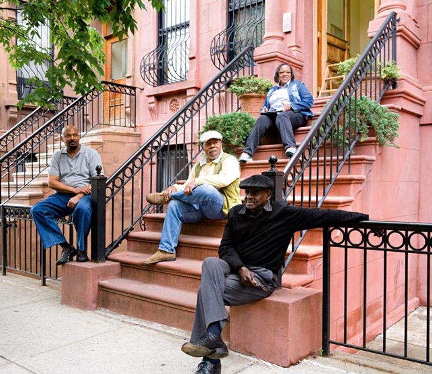 Sitting on the stoop, Harlem. Image: 4 Corners