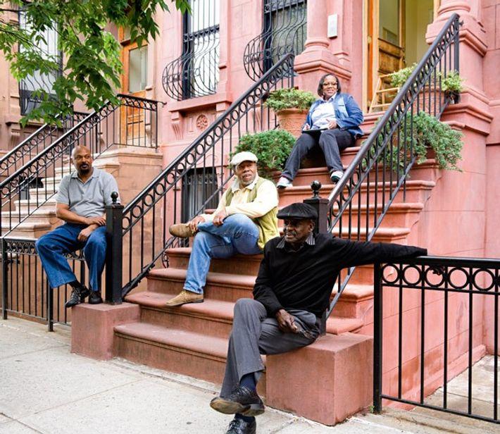Sitting on the stoop, Harlem