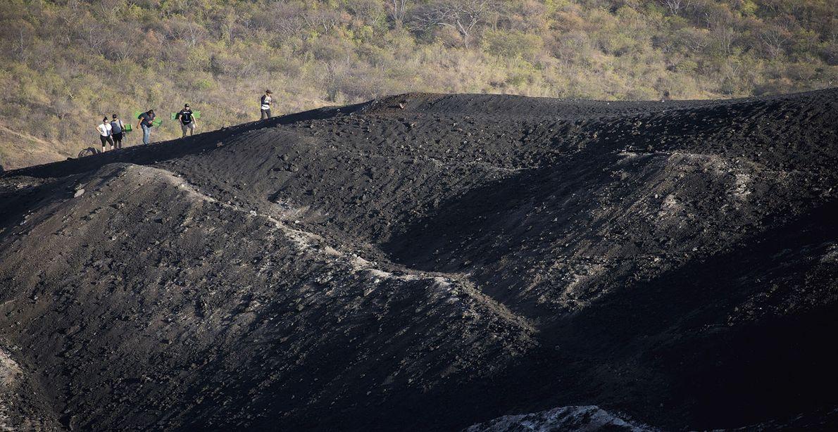 Reaching the summit of Cerro Negro