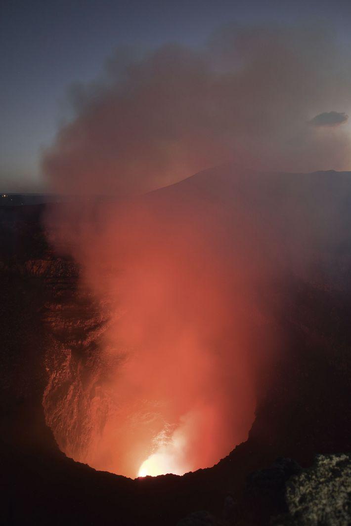 The Masaya erupting
