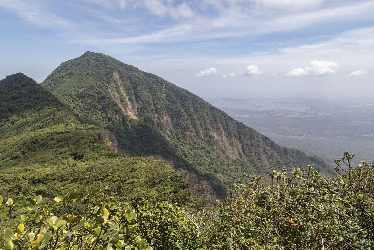 The verdant slopes of Mombacho